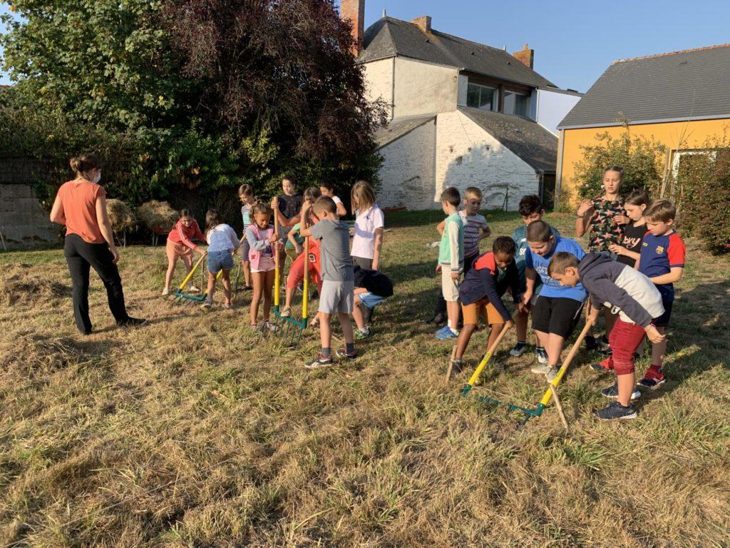 Un jardin bio dans notre école – première séance
