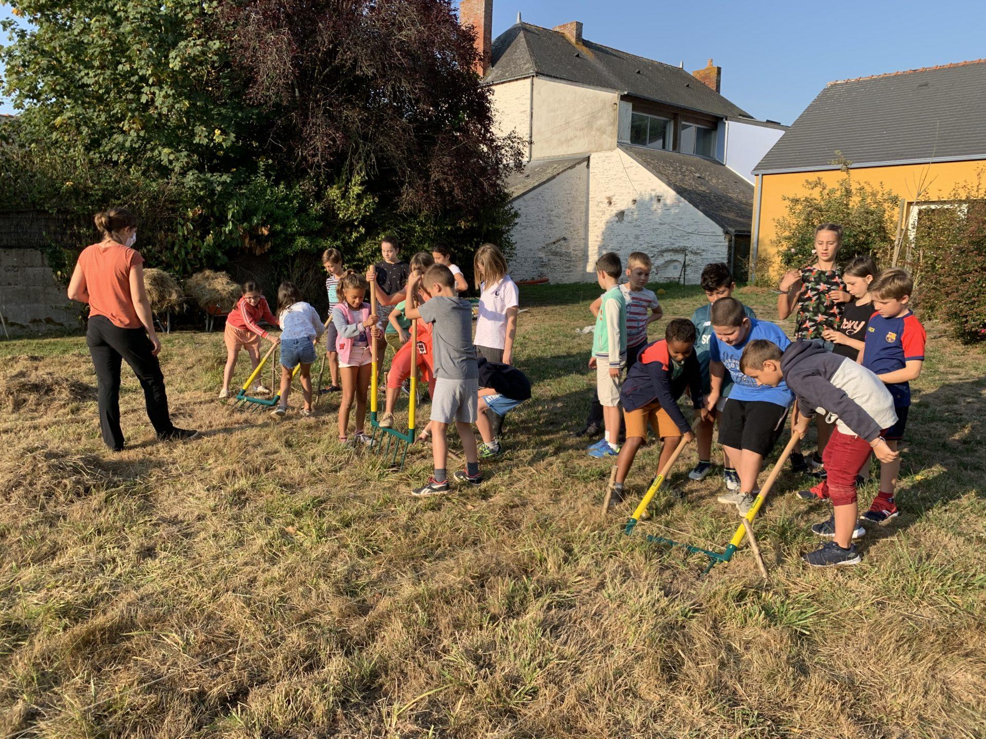 Read more about the article Un jardin bio dans notre école – première séance